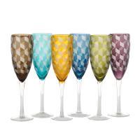 Flûtes à champagne BLOCKS de Pols Potten, 6 coloris