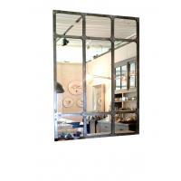 Grand miroir Atelier acier