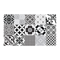Tapis ECLECTIC BLACK AND WHITE de Beija Flor, 6 tailles