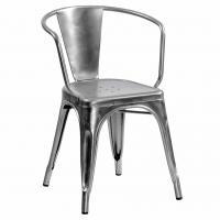 Fauteuil A56 de Tolix acier gris lasuré