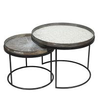 Set Round Tray tables basses de Notre Monde, H.31/38