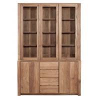 Vitrine TECK LODGE d'Ethnicraft , 3 portes vitrées / 2 portes / 3 tiroirs