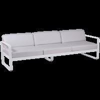 Canapé 3 places BELLEVIE de Fermob, Coussin blanc grisé, Blanc Coton
