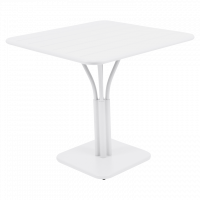 Table carrée LUXEMBOURG de Fermob, Blanc coton