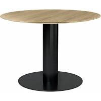 Table 2.0 de Gubi, base noire, Ø110, 12 coloris