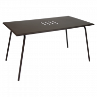 Table haute MONCEAU de Fermob, 146x80x74, Rouille