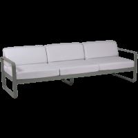 Canapé 3 places BELLEVIE de Fermob, Coussin blanc grisé, Romarin