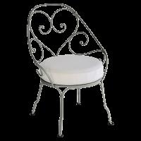 Fauteuil CABRIOLET de Fermob, Coussin blanc grisé, Romarin