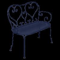Banquette 1900 de Fermob, Bleu abysse