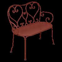 Banquette 1900 de Fermob, ocre rouge