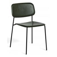 Chaise SOFT EDGE 10 de Hay, Base black powder coated steel, Seat Back Hunter stained oak
