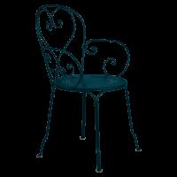 Fauteuil 1900 de Fermob, bleu acapulco