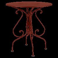 Guéridon 1900 Fermob, ocre rouge