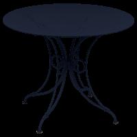 Table 1900 de Fermob D. 117, Bleu abysse