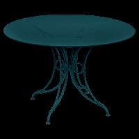 Table 1900 de Fermob D.117 Bleu acpaulco