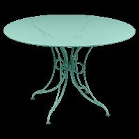 Table 1900 de Fermob D. 117 Bleu lagune