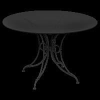 Table 1900 de Fermob D.117, Noir Réglisse