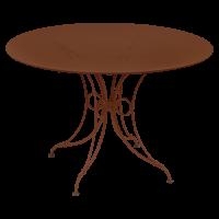 Table 1900 de Fermob D.117 Ocre rouge