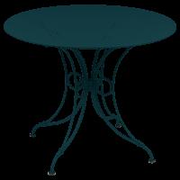 Table 1900 de Fermob D.96 Bleu acpaulco