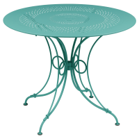 Table 1900 de Fermob D. 96 Bleu lagune