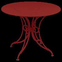 Table 1900 de Fermob D.96, Coquelicot