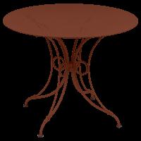 Table 1900 de Fermob D.96 Ocre rouge