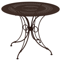 Table 1900 de Fermob D.96, Rouille