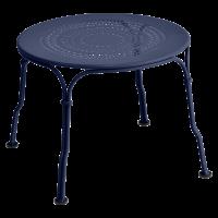 Table basse 1900 de Fermob, Bleu abysse