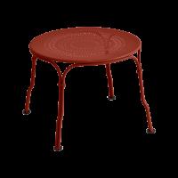 Table basse 1900 de Fermob, ocre rouge