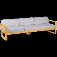 Canapé 3 places BELLEVIE de Fermob, Coussin blanc grisé, Miel
