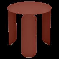 Table basse BEBOP de Fermob, D. 45, Ocre rouge