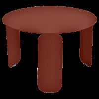 Table basse BEBOP de Fermob, D. 60, Ocre rouge