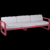 Canapé 3 places BELLEVIE de Fermob, Coussin blanc grisé, Rose praline