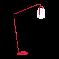 Grand pied déporté pour lampe BALAD de Fermob, Rose praline