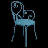 Fauteuil 1900 de Fermob bleu turquoise