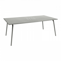 Table haute MONCEAU de Fermob, 194x94x74, Gris métal