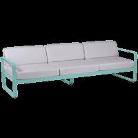 Canapé 3 places BELLEVIE de Fermob, 2 options tissu, 23 coloris