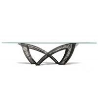 Table HYSTRIX de Cattelan Italia, Acier et verre clair
