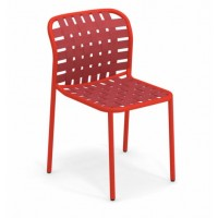 Chaise YARD  de Emu, Rouge écarlate