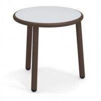 Table basse en aluminium YARD de Emu, Ø 50 cm, Marron d