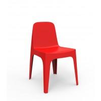 Chaise SOLID de Vondom, Rouge