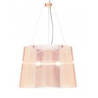 Suspension GE transparente de Kartell, Rose