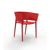 Chaise AFRICA de Vondom, Rouge
