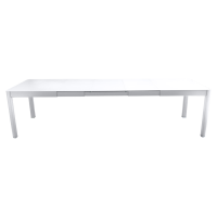 Table à allonges RIBAMBELLE de Fermob, 3 allonges, Blanc coton