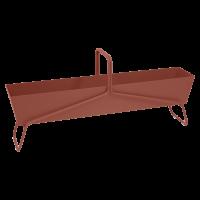 Jardinière format long BASKET de Fermob, ocre rouge