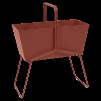 Jardinière haute BASKET de Fermob, ocre rouge