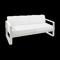 Canapé BELLEVIE de Fermob, Coussin Blanc grisé, Gris argile