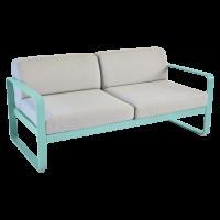 Canapé BELLEVIE de Fermob, Coussin Gris flanelle, Bleu lagune