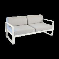 Canapé BELLEVIE de Fermob, Coussin Gris flanelle, Gris argile