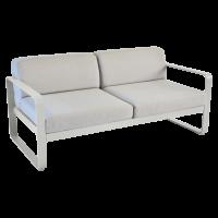 Canapé BELLEVIE de Fermob, Coussin Gris flanelle, Gris métal